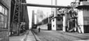 Schlieren, Foto: Andreas Wolfensberger, 19.5x29.5 cm, Baryt, Archiv: Privatarchiv Andreas Wolfensberger, Winterthur, Beschriftung: Gaswerk Schlieren, 1965