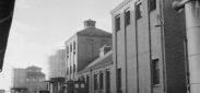Schlieren; Foto: Keystone/Photopress- Archiv/Str; s/w-Negativ; Archiv: Keystone; Beschriftung: Gaswerk; 1946